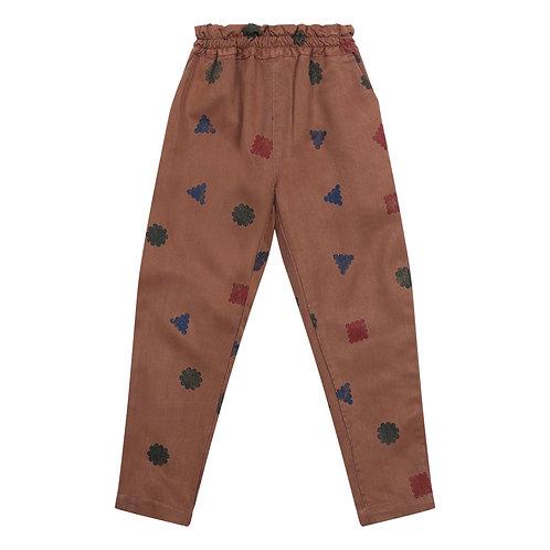 Bobo Choses - Lyocell Geometric Brown Trousers