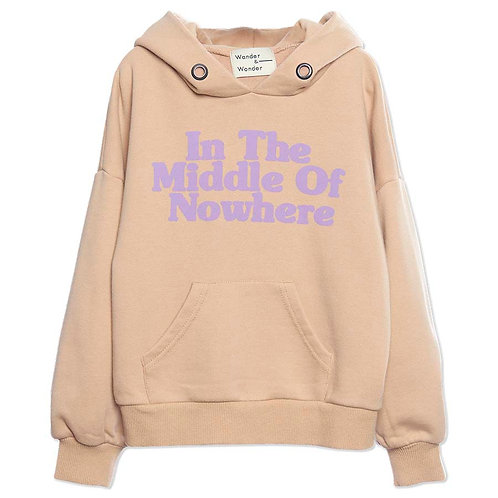 In The Middle of Nowhere Natural Hoodie