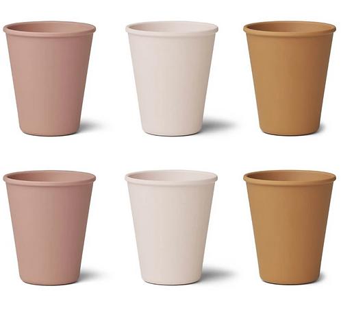 Rosey Mix Bamboo Cup Set