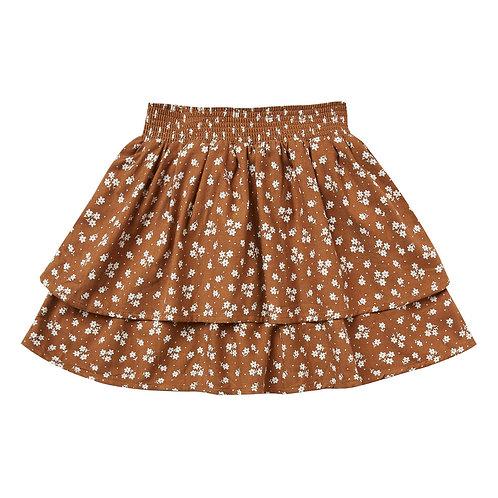 Rylee & Cru - Camel Ruffled Skirt