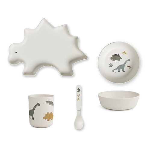 Dino Bamboo Tableware Set