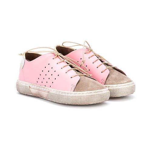 Pèpè - Pink & Rose Gold Leather Sneaker