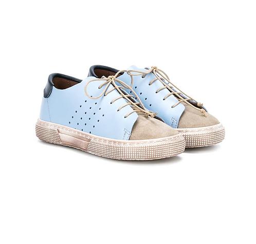 Pèpè - Sky Blue Leather Sneaker