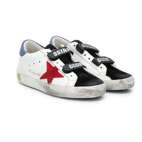 GGDB Superstar Sneakers - White x Ruby Red