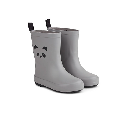 Panda Rainboots - Grey