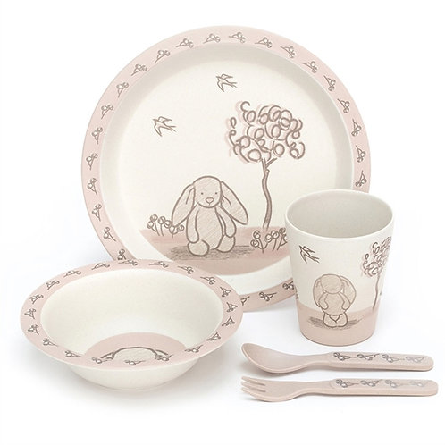 Bunny Bamboo Dinner Set