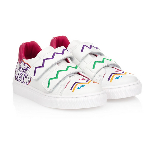 Kenzo - Pink Leather African Art Sneakers