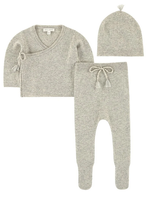 Merle Grey Wool Cashmere Set