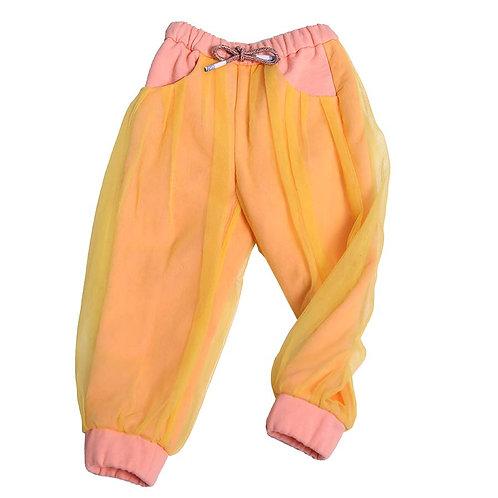 Margaretha Track Pants - Pink/Yellow