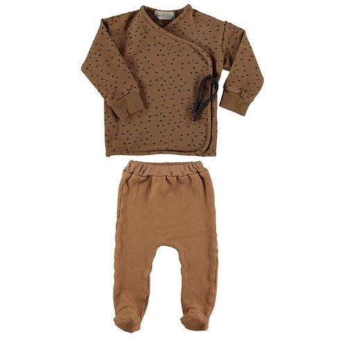 Caramel Brown Pattern Set