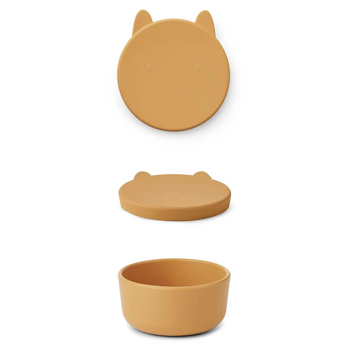 Mustard Bunny Silicone Snack Box - Large