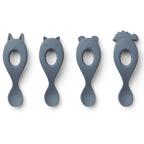 Baby Silicone Spoon - Blue Wave Friends