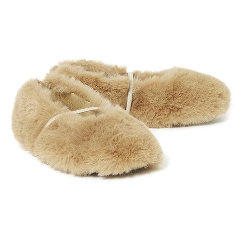 Pèpè - Faux Fur Camel Flats