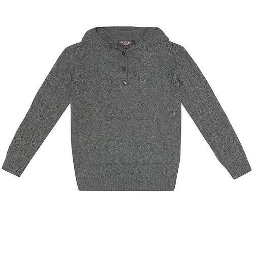 Loro Piana - Pure Cashmere Grey Jumper