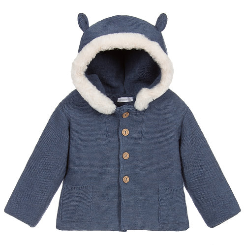 Wedoable - Merino Wool Pram Jacket - Blue