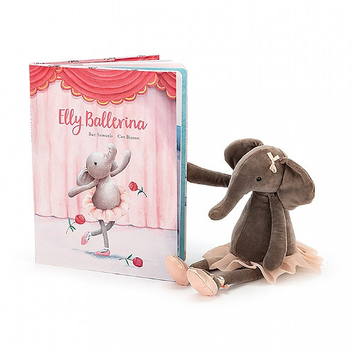 Elly Ballerina Book with Dancing Darcey Elephant