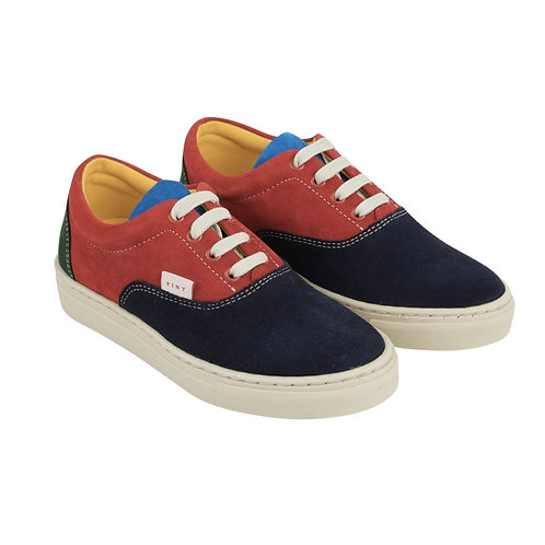 Tiny Cottons - Leather Color Block Sneakers