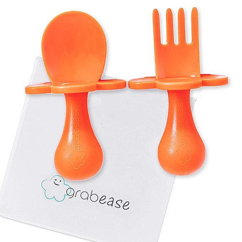 Baby Spoon and Fork Utensils - Orange