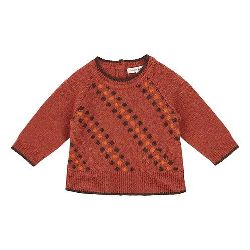 Piper Merino Wool Rust Jumper