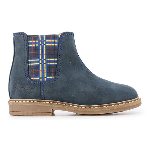 Pom D'api - Brooklyn Leather Navy Boots