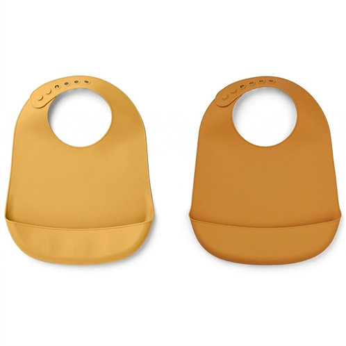 Solid Mellow Yellow x Mustard Silicone Bib