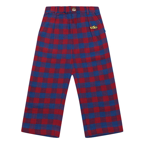 Bobo Choses - Checkered Woven Trousers