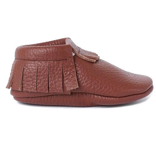 Baby Steps - Brown Fringe Leather Mocs