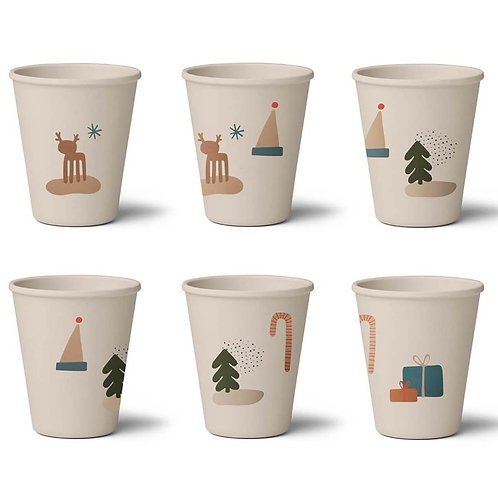 Holiday Mix Cups - Set of 6