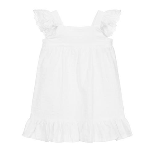 White Cotton & Lace Dress