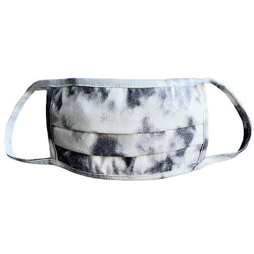Dark Grey Tie Dye Face Mask