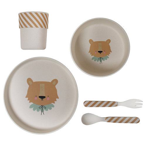 Lion Bamboo Meal Set