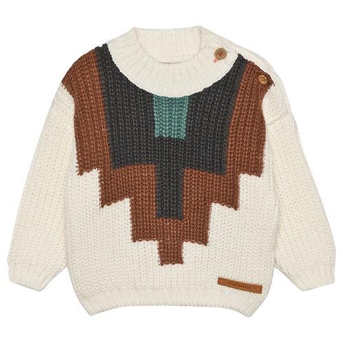 Ecru Over-sized Knit Jumper