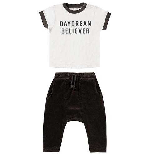 Ringer Tee & Vintage Black Hawthorne Trouser