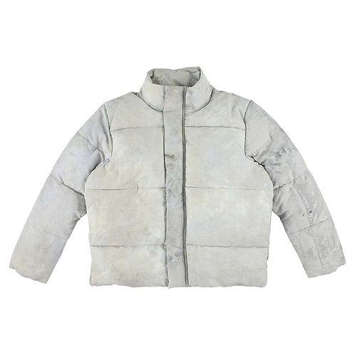 Grey Tye Dye Puffer Jacket