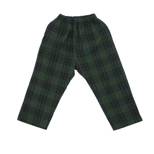 Retro Green Check Pants