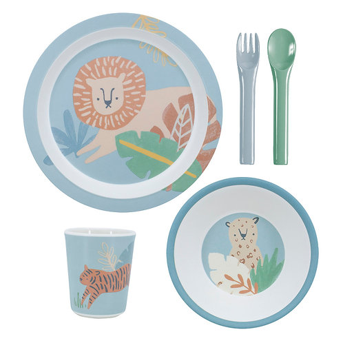 Melamine Dinner Set - Eucalyptus Blue