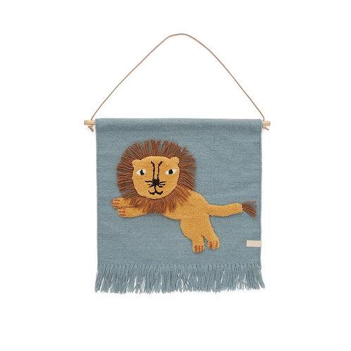 Handmade Wool Lion Wall-Hanger