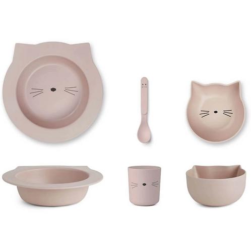 Rosey Baby Kitty Bamboo Tableware Set