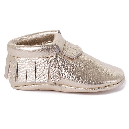 Baby Steps - Silver Fringe Leather Mocs