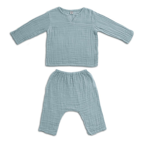 Sweet Blue Organic Cotton Set