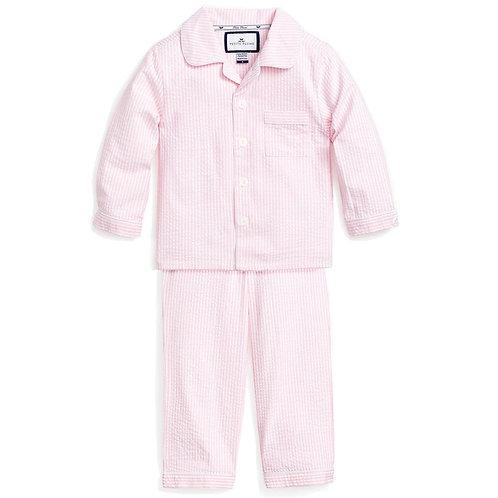 Pink Seersucker Pajama Set