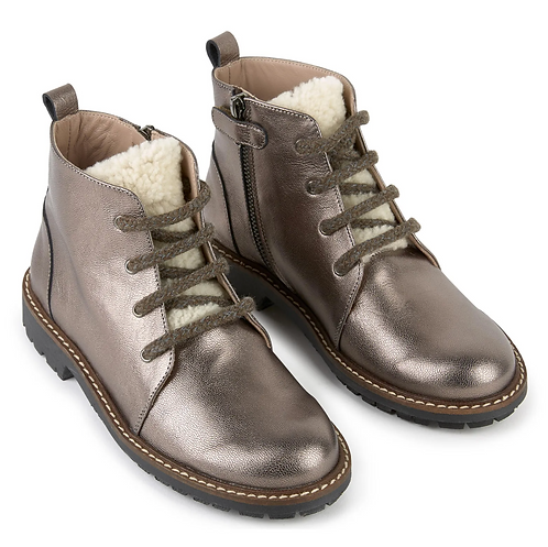 Bonpoint - Silver Leather Boots