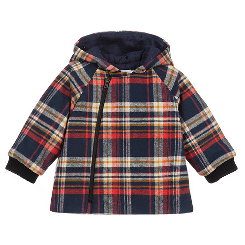 Bonpoint - Blue & Red Checker Jacket