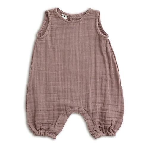 Dusty Pink Playsuit Organic Cotton