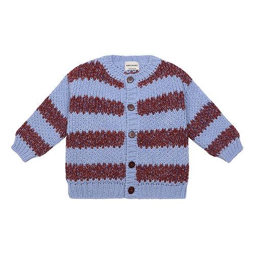 Bobo Choses - Wool-blend Lilac Cardigan