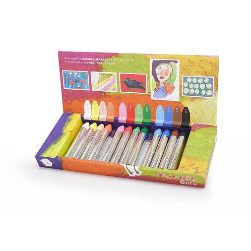Kitpas - Medium Stick Crayons - 12 Colours