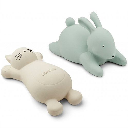Kitty & Bunny Bath Friends - Pastel