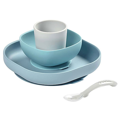 Beaba - Sea Blue Silicone Meal Set