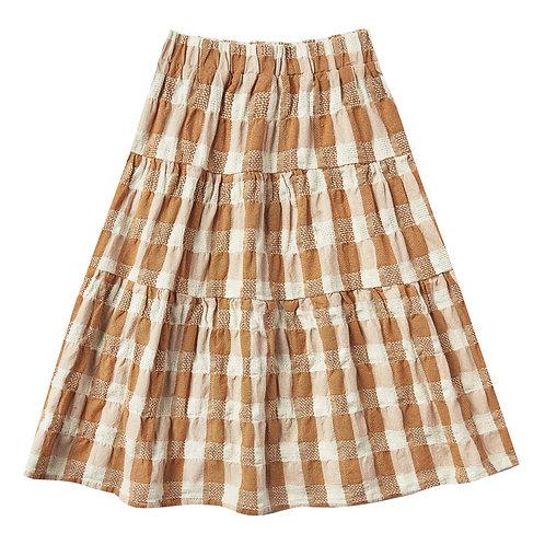 Rylee & Cru - Cotton and Linen Camel Skirt