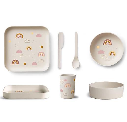 Magic Rainbow Bamboo Tableware Set